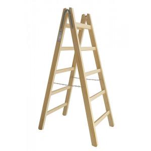 Scara  din lemn PREMIUM 2*5 trepte,inaltimea 159 cm MAAN PL