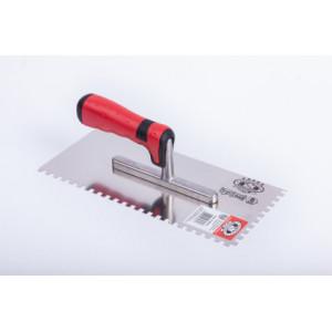 Drisca dintata,maner lemn,  4x 4mm,cod 127128E4 P,de inox 280 mm
