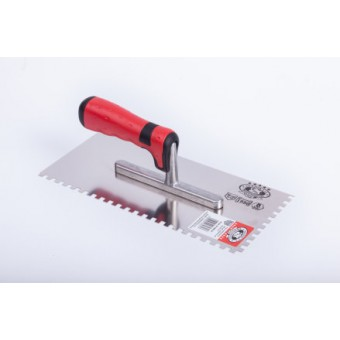 Drisca dintata,maner lemn,  6x 6mm,cod 127128E6 P,de inox 280 mm