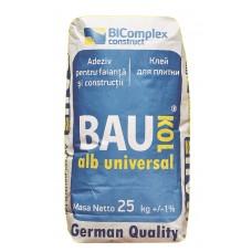 Adeziv  BAUKOL ALB,25 kg, Universal ,pt Porcelonat (50)