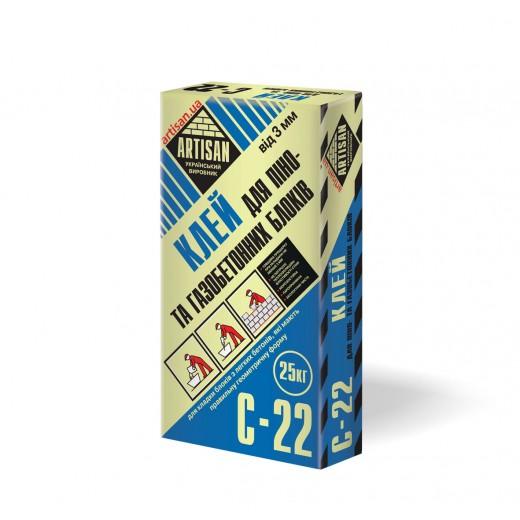Adeziv  ARTISAN - C-22,BCA, 25 kg(pe baza de ciment) pt gazbeton,(42)