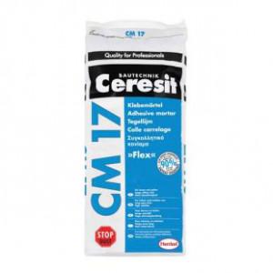 Adeziv  CM 17 pt portelan,flex. la intr. si exter.pard. calde Ceresit 25 kg (48)
