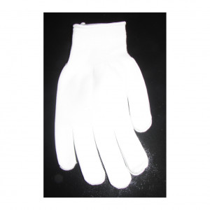 Manusi  (CG) cu 5 degete 4 ate,PVC, (ALBE)
