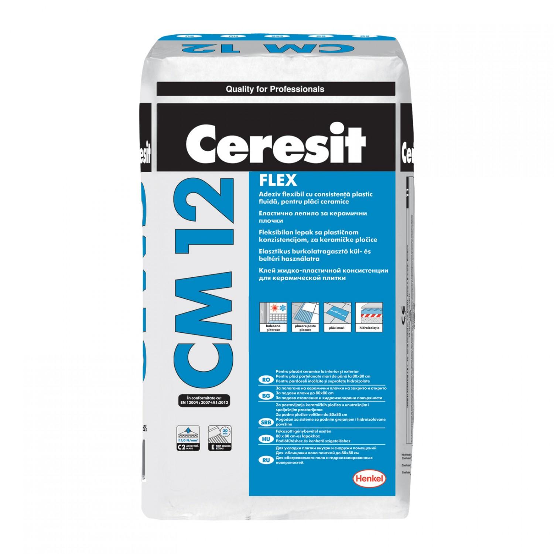 Adeziv  CM 12, 25 kg ,CERESIT,flexibil,pt placari ceram.int.-ext. (48)