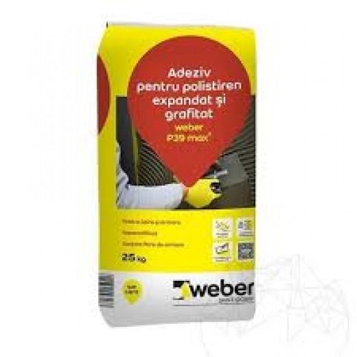 Adeziv     Weber P39,pt. lipire-armare polisti.expan.si grafit, 25kg(48)