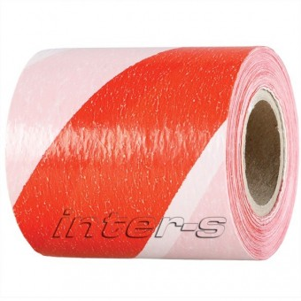 Banda  de semnalizare 75 mm*100m rosu-alb (020190)