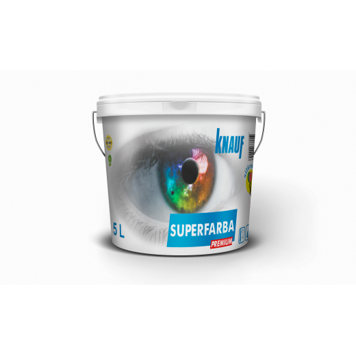 KNAUF   Vopsea   PREMIUM  5 L. SUPERFARBA   (silicon,interior)