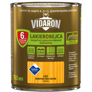 Lac VIDARON L16  antracit 2,5L, lac-bait pt. lemn