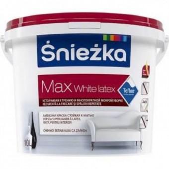 SNIEZKA MAX White Latex,    3L,emulsie int. alba