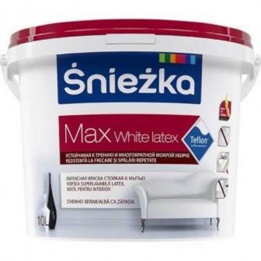 SNIEZKA MAX White Latex,   10L,emulsie int. alba