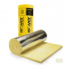 Vata ISOVER 5 AL, 50mm x1.2x12m, 14.4m2, 11kg/m3, FOLIE alum