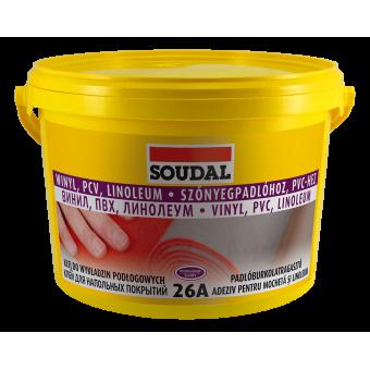 SOUDAL Adez.26 A, 15 kg,pt linole.,mocheta,covor PVC,vinil 107643