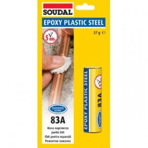 SOUDAL Adeziv Epoxy Plastic Steel 83A, 60 gr 124851*