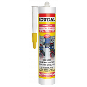 SOUDAL Gasket silicon ROSU -280 ml ,la temp.285 grade(12) 117975