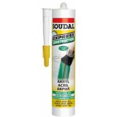 SOUDAL Mastic EXPRESS acrilic, ALB 280ml (12) 122878