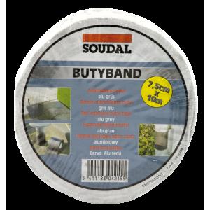 BANDA butilica BUTYBAND (22,5cm x 10m) aluminiu 111086 (2)