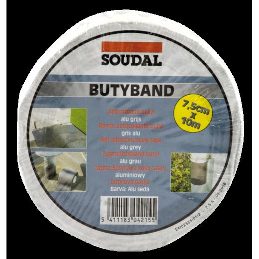 BANDA butilica BUTYBAND(10 cmx10 m) aluminiu 111084(6)