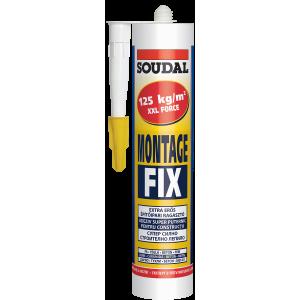 SOUDAL   Cuie lic Montage Fix 280 ml (12) alb,acrilic,123108