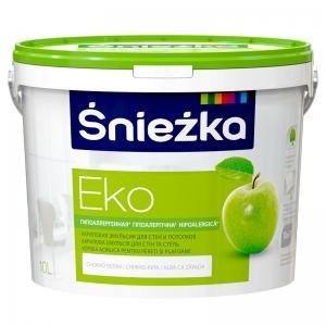 EKO-SNIEZKA ,10 L, vopsea emulsie bz.acril