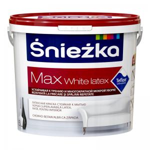 SNIEZKA MAX White Latex,    5L,emulsie int. alba