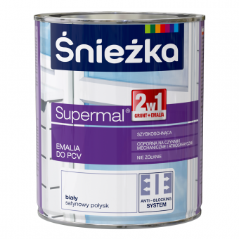 Supermal,  email pentru PVC, alb, 0.75 L