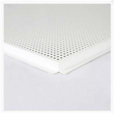 TAVAN    - Placa METAL  perforata  (LAY-IN) 600x600x0.4 RAL 9016 (M43642)