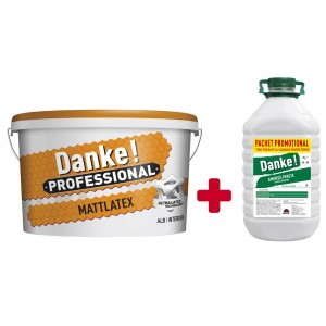 DANKE PROF.MATTLATEX 15L + 4L Amorsa Danke,vopsea lavabila int.