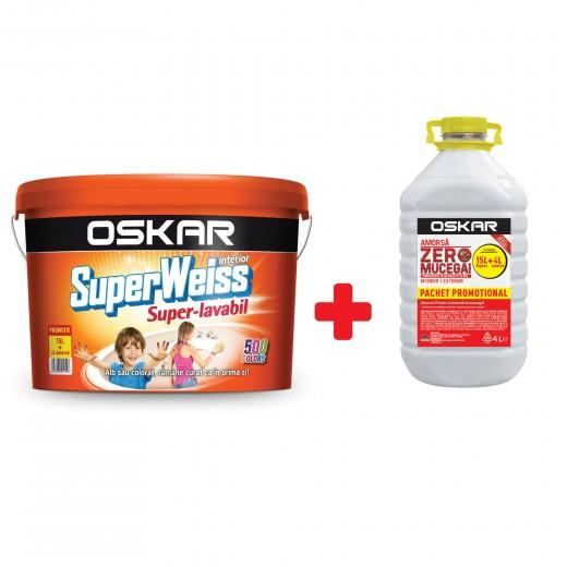 OSKAR Super Weiss -S.L., 15L+ 4 L ,AZM (PROMO) ,vopsea lavabila int.