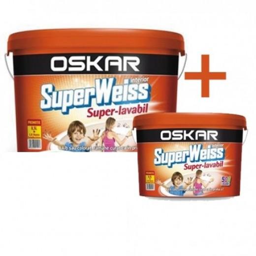 OSKAR Super Weiss -S.L., 15L+ 2.5 L, OSK.SW (PROMO), vopsea lavabila int.